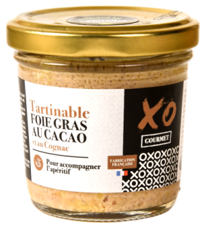 Tartinable foie gras cacao et cognac