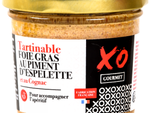 Tartinable foie gras piment d'espelette au cognac
