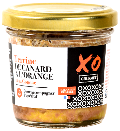 Terrine de canard á l'orange et au cognac