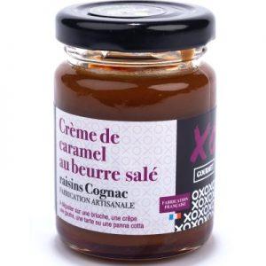 Crème de caramel au beurre salé raisins Cognac