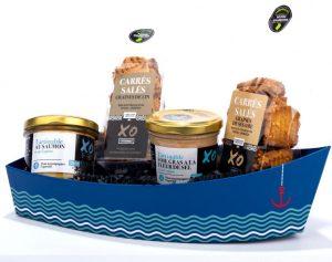 Barque carrés salés et saveurs de la mer au cognac