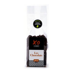 Languettes de chocolat noir